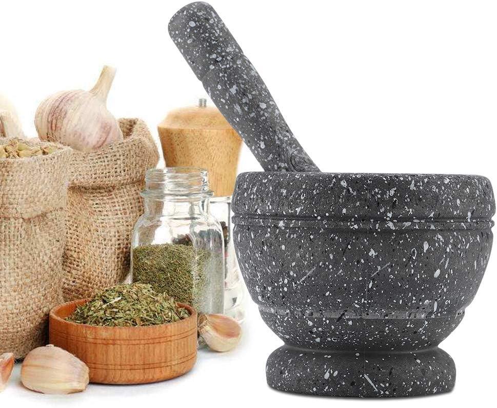 Mortar Pestle Set-Manual Plastic Garlic Grinder Spices Herbs Mortar Pestle Set Grinding Bowl Kitchen Tool #4