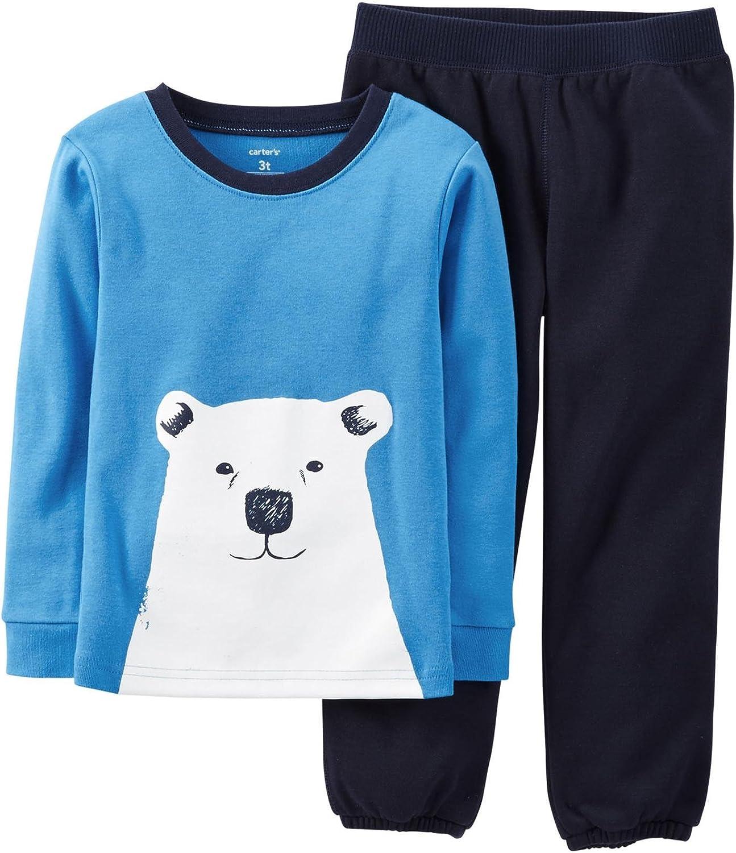 Carters 2 Piece Pant PJ Set Polar Bear-7 Toddler//Kid