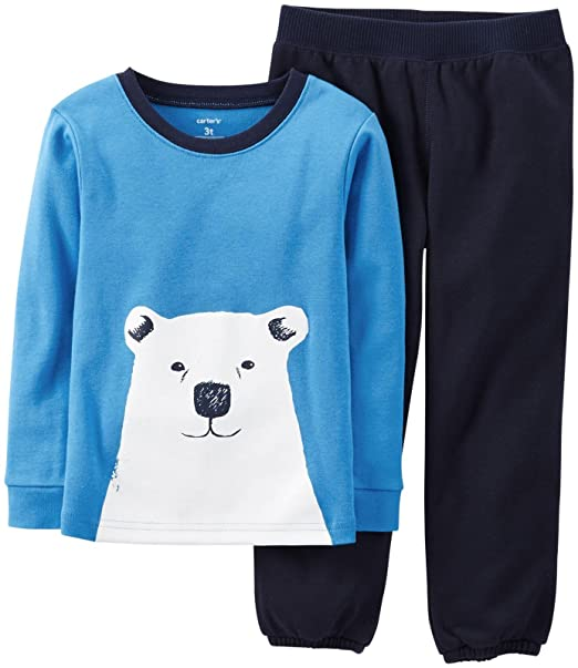 c8aa4bc59124 Amazon.com  Carter s 2 Piece Pant PJ Set (Toddler Kid) - Polar Bear ...