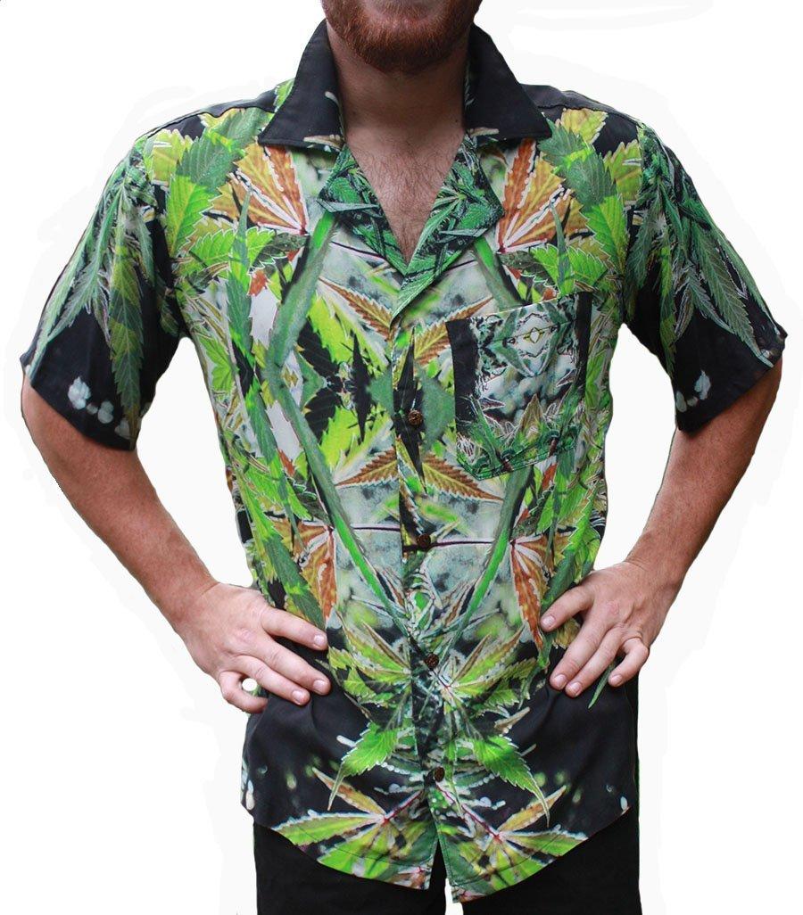 Hawaiian Shirts Mens Rayon Aloha Party Holiday Blueberry- S