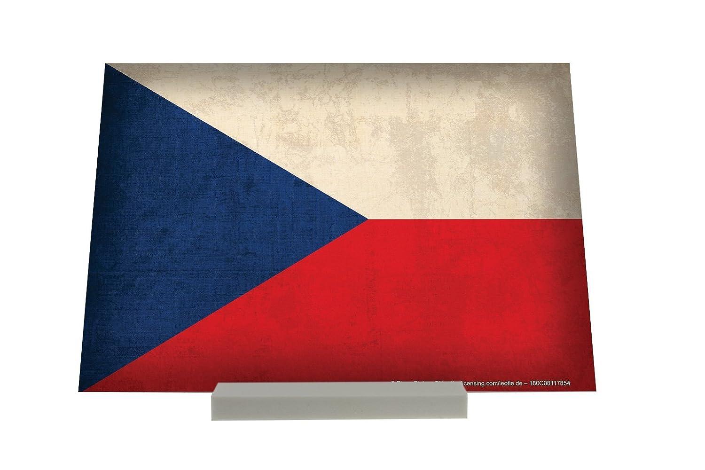 Soporte Fotografias Trotamundos bandera de la República Checa Letrero Retro: Amazon.es: Hogar