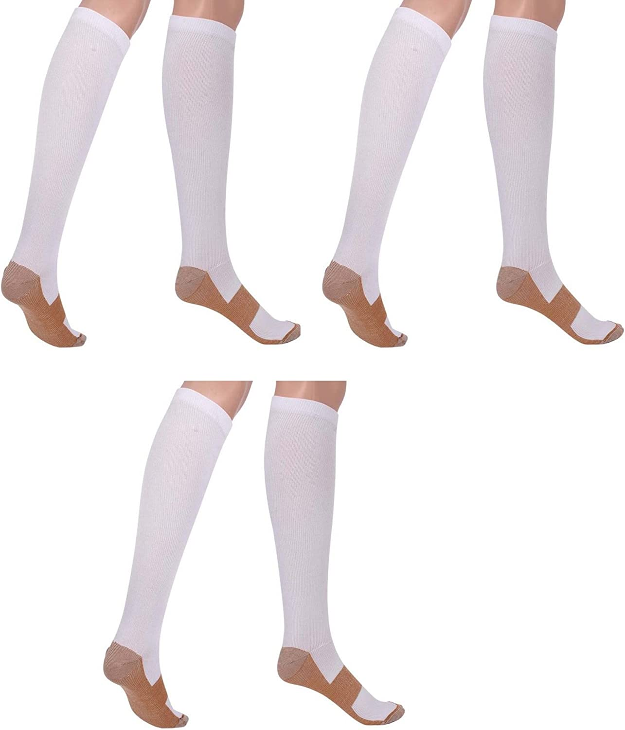 Sirosky Graduated Compression Support Socks For Men /& Women For Sports Medical