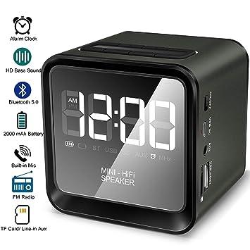 Reloj Despertador Digital para mesita de Noche con Altavoz ...