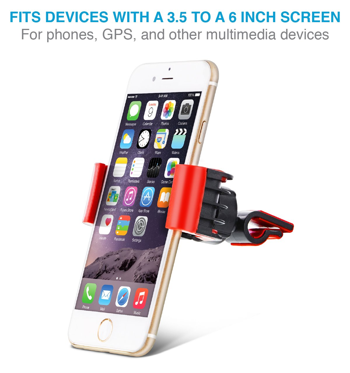 HTC and All Devices up to 6 Aduro U-Grip Swivel Universal Smartphone Air Vent Car Mount Holder with 360/° Rotating Swivel Head Compatible Apple iPhone Gray UNI-SPH01-SVM-12 HTC and All Devices up to 6 Gray Samsung Galaxy