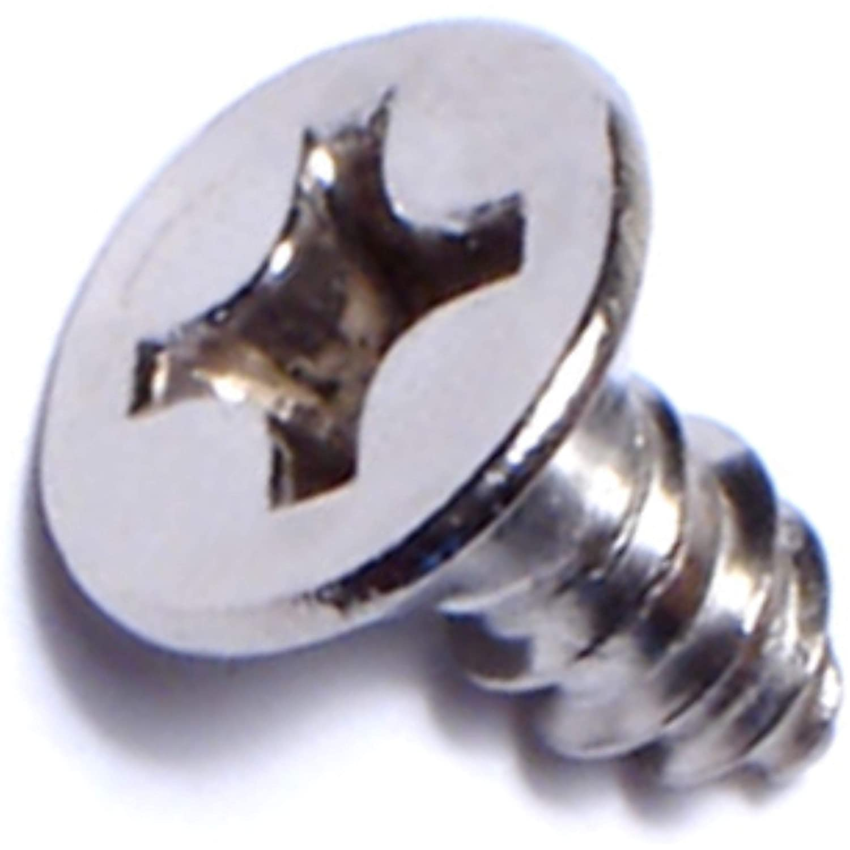 Hard-to-Find Fastener 014973195335 Phillips Flat Sheet Metal Screws 12 x 1//2 Piece-100
