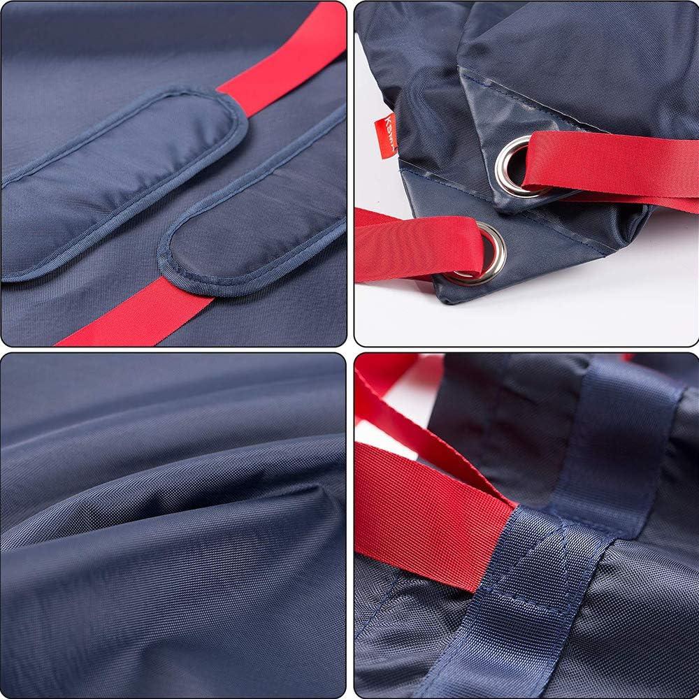 PRETTYLE Oxford W/äscherucksack mit hoher Kapazit/ät Reise W/äschesack mit verstellbarem Schultergurt f/ür College Camping blau Wohnheim Wohnung