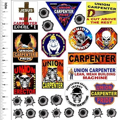 hard hat stickers carpenter sticker value pack: Home Improvement