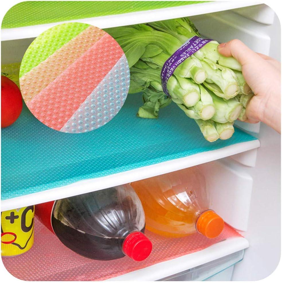 almohadilla antibacteriana para refrigerador lavable y fresco manteles individuales Homo Trends 16 piezas de forros para refrigerador