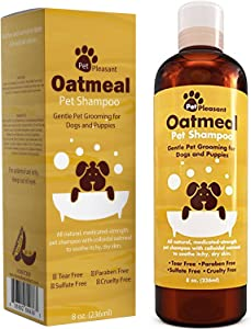 Dog Shampoo for Dry Itchy Skin - Colloidal Oatmeal Dog Shampoo for Smelly Dogs and Moisturizing Body Wash for Puppy Supplies and Dog Itching Relief - Hypoallergenic Dog Shampoo Pet Odor Eliminator