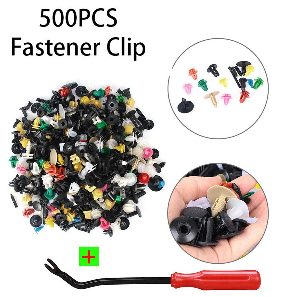 Auto Car Fastener Clip Bumper Fender Trim Plastic Rivet Door Panel 500x Mixed