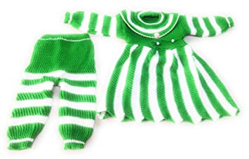 1669c2c01 New Jain Traders - Woolen Knitted Frock   Pajami (2Pcs Suit) for ...