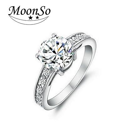 Amazon Com Delatcha Jewelry Ring Designer Ring Women Cz Best