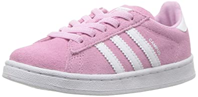 reputable site 7e43d e03d2 Adidas Girls Pink and White Campus EL I Sneaker-9.5 US