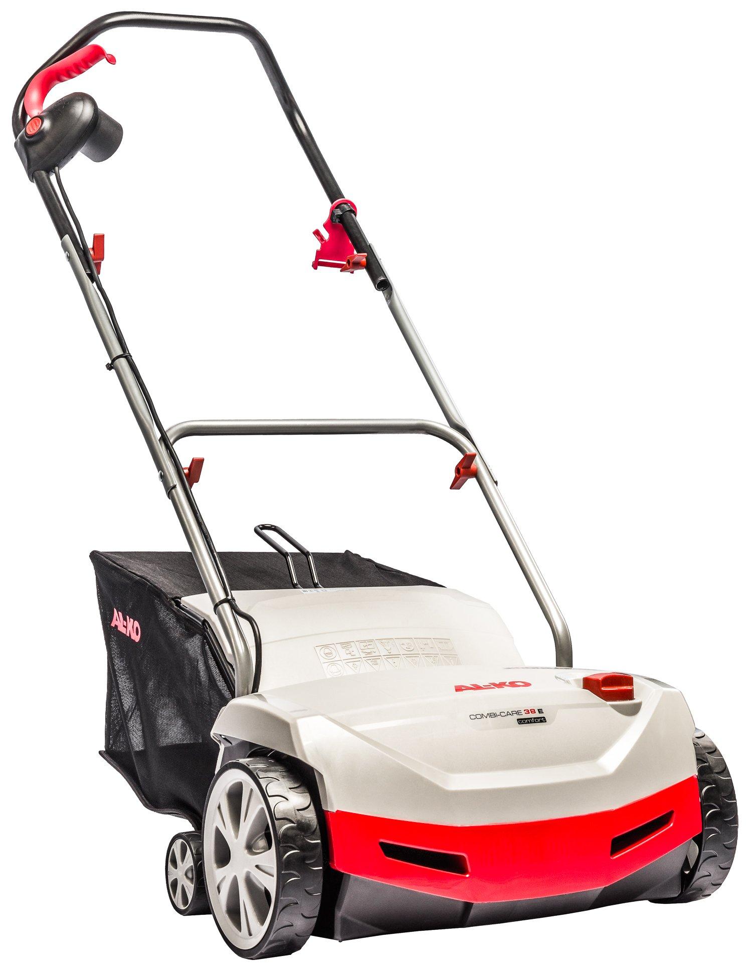 AL-KO Combicare 38 E Comfort Arieggiatore+Scarificatore (doppio rullo) elettrico 1300watt.Lavoro 38cm.Cesto 55l tela.Ideale 800mq. product image