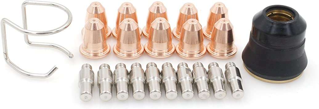 Trafimet 20-Pc S45 Plasma Cutting Tips//Electrodes//StdOff PD0116//PR0110//CV-0010