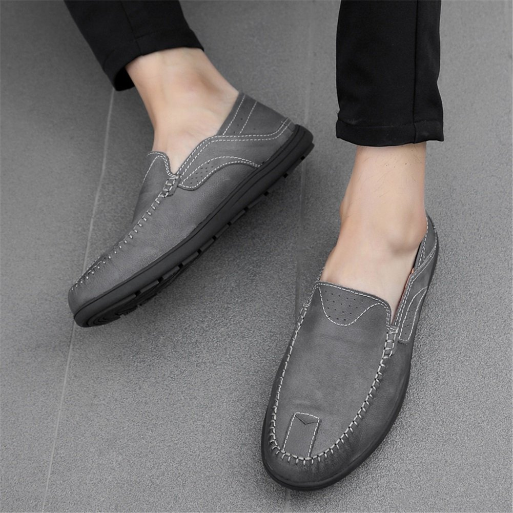 XUEXUE Mens Shoes Leather Spring Summer Comfort Loafers /& Slip-Ons Driving Shoes Walking Shoes Breathable Casual Office /& Career Formal Business Work Color : E, Size : 40
