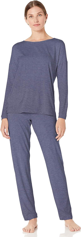 Hanro Damen Natural Elegance Long Sleeve Pajama Pyjama Set