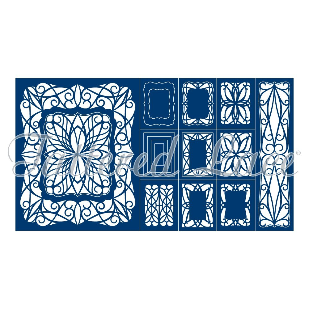 Tattered Lace Double Shutter Card Cutting Dies Set TLD0186 Includes 17-Dies