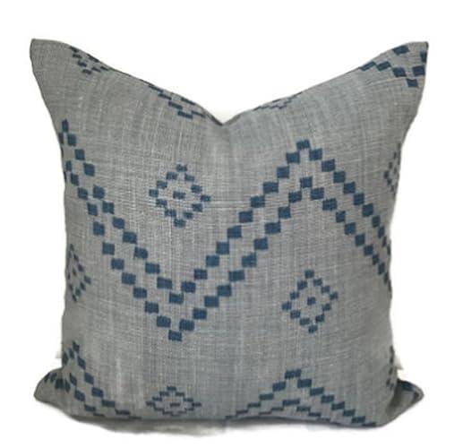 Peter Dunham Textiles Taj Pillow In Mist, Zig Zag Pillow, Throw Pillows,  Sofa