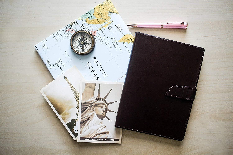 16 x 20 cm Style Italien Ecriture Carnet de Notes pour Filles et Gar/çons Carnet de Voyage Journal Intime en Cuir Papier Lign/é A5