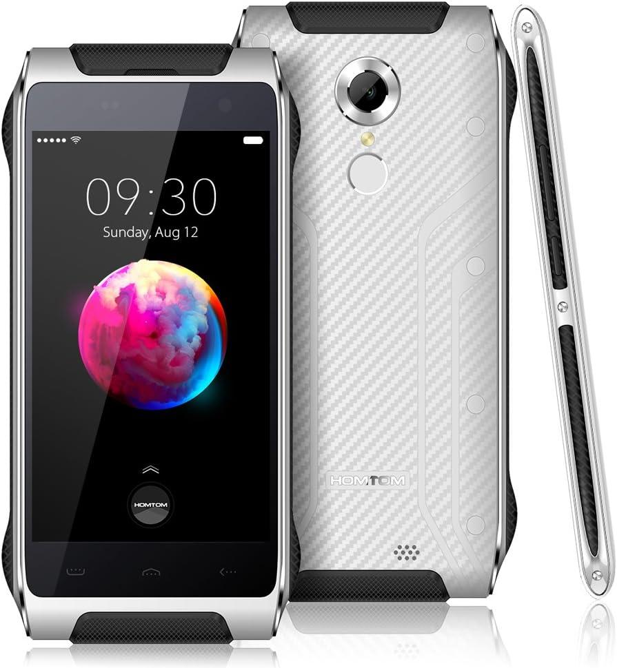 HOMTOM HT20 Pro Smartphone 4G Lte, IP68 Impermeable A prueba de Polvo Golpes 1.3GHz 64-bit Octa Core 4.7 pulgadas 3G+32G 8MP+16MP Cámera 3500mAh WiFi Smart Gesture OTG: Amazon.es: Electrónica