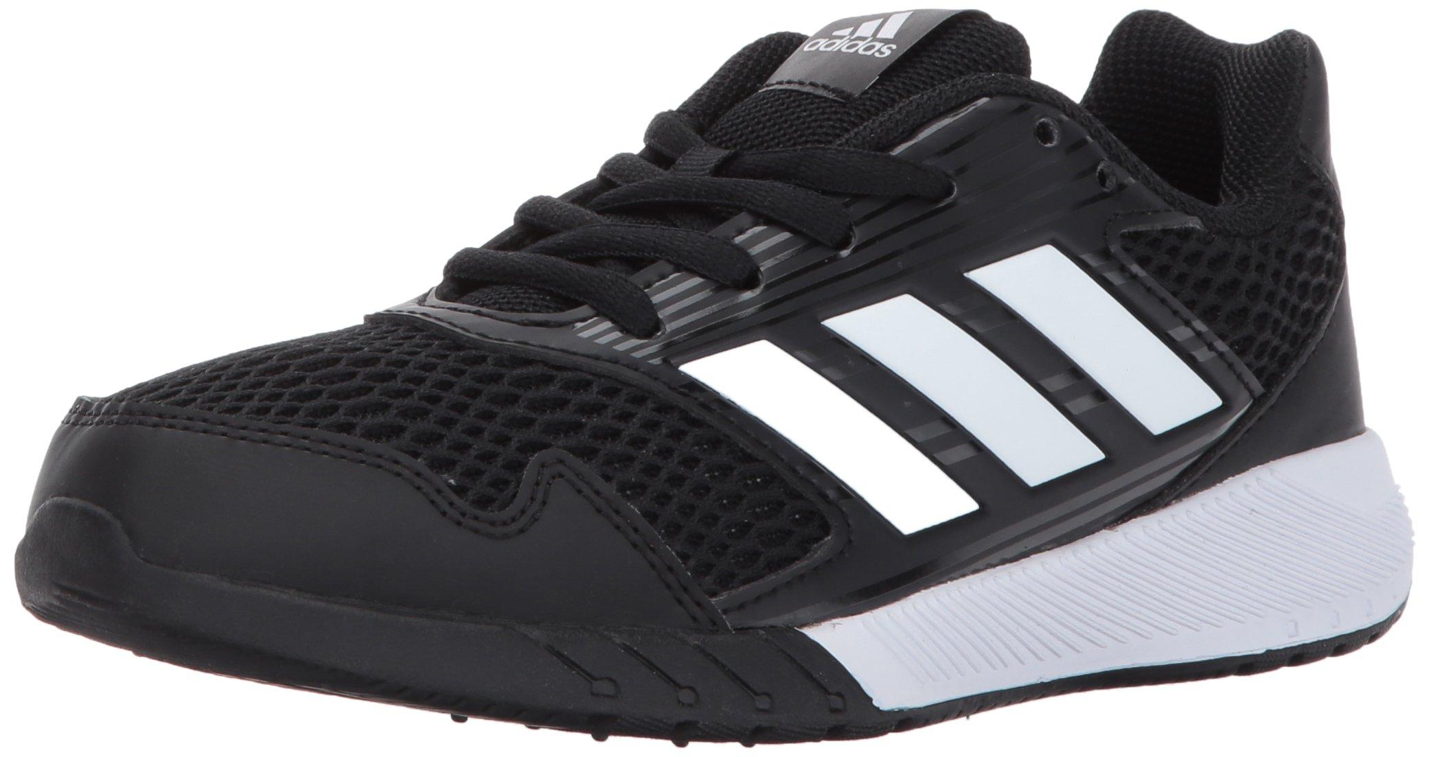 adidas Originals Boys' Altarun K Running Shoe, Black/White/Black, 3.5 Medium US Little Kid