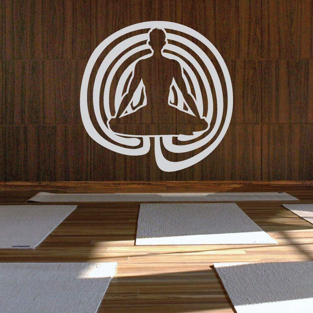 Espiral Padmasana Yoga Cutout Vinilo adhesivo Meditación ...