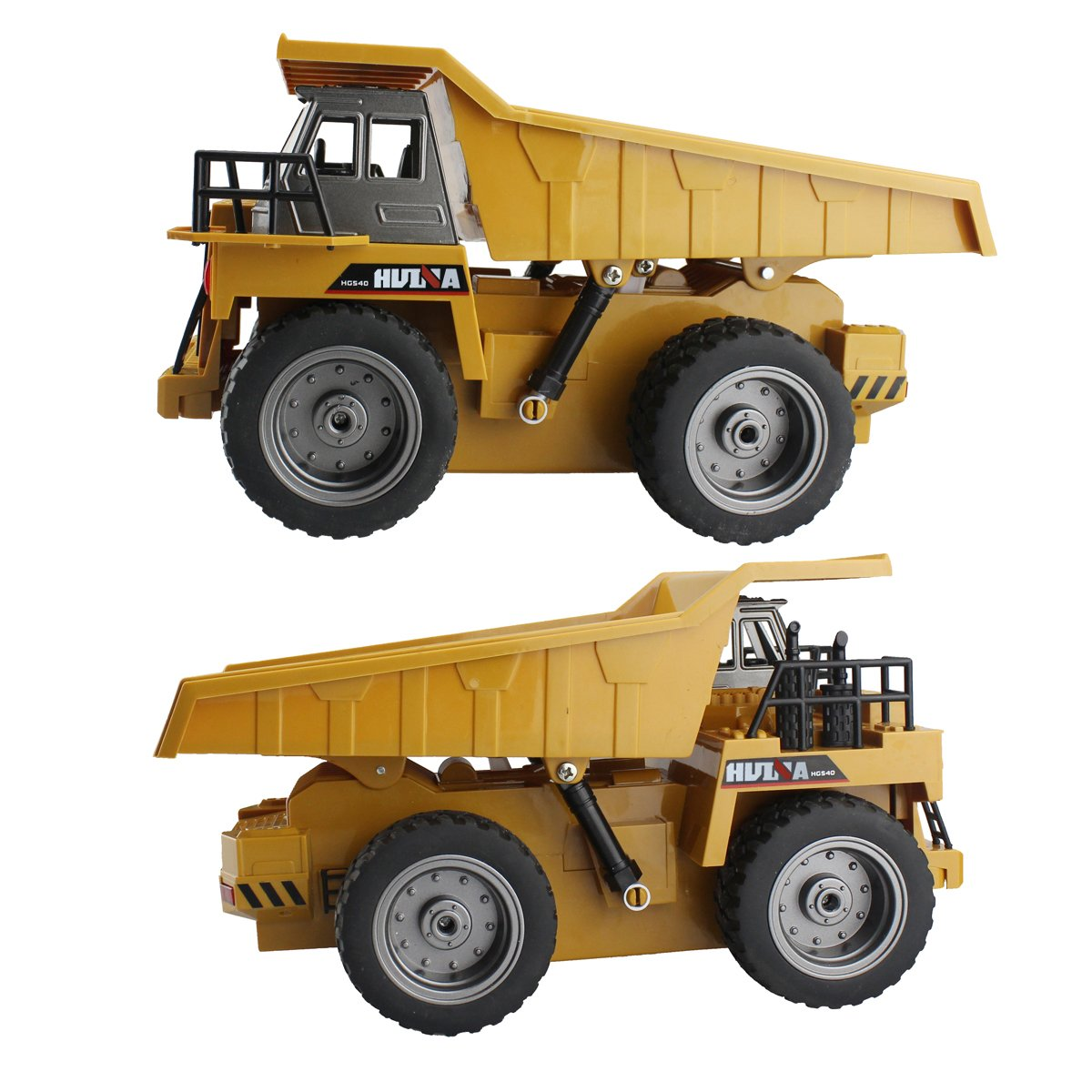 fisca RC Truck 6 Ch 2.4G Alloy Remote Control Dump Truck 4 Wheel Driver Mine Construction Vehicle Toy Machine Model with LED Light by fisca (Image #2)