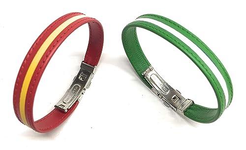 Yojan Piel/Pack Pulsera España Y Andalucía/Cierre Tipo Reloj: Amazon.es: Handmade