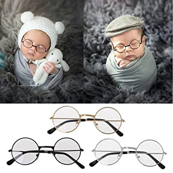 Bkid baby photography props newborn photo outfits props infant flat classic glasses baby shoot props