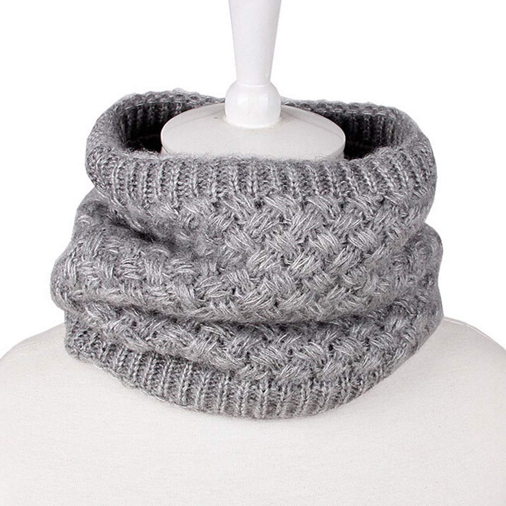 Winter Fleece Lined Neck Warmer Shybuy Men /& Women Infinity Scarf Thicken Windproof Circle Loop Skiing Scarf
