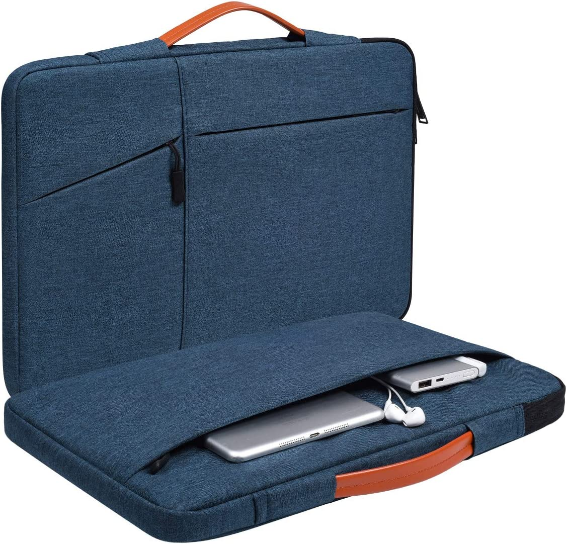 14-15 Inch Laptop Case Bag for Dell XPS 15 7590 9575/Dell Latitude 14,HP Pavilion x360 14/HP Stream 14/HP Chromebook 14,Acer Spin 3 14 Briefcase Sleeve Bag(Blue)