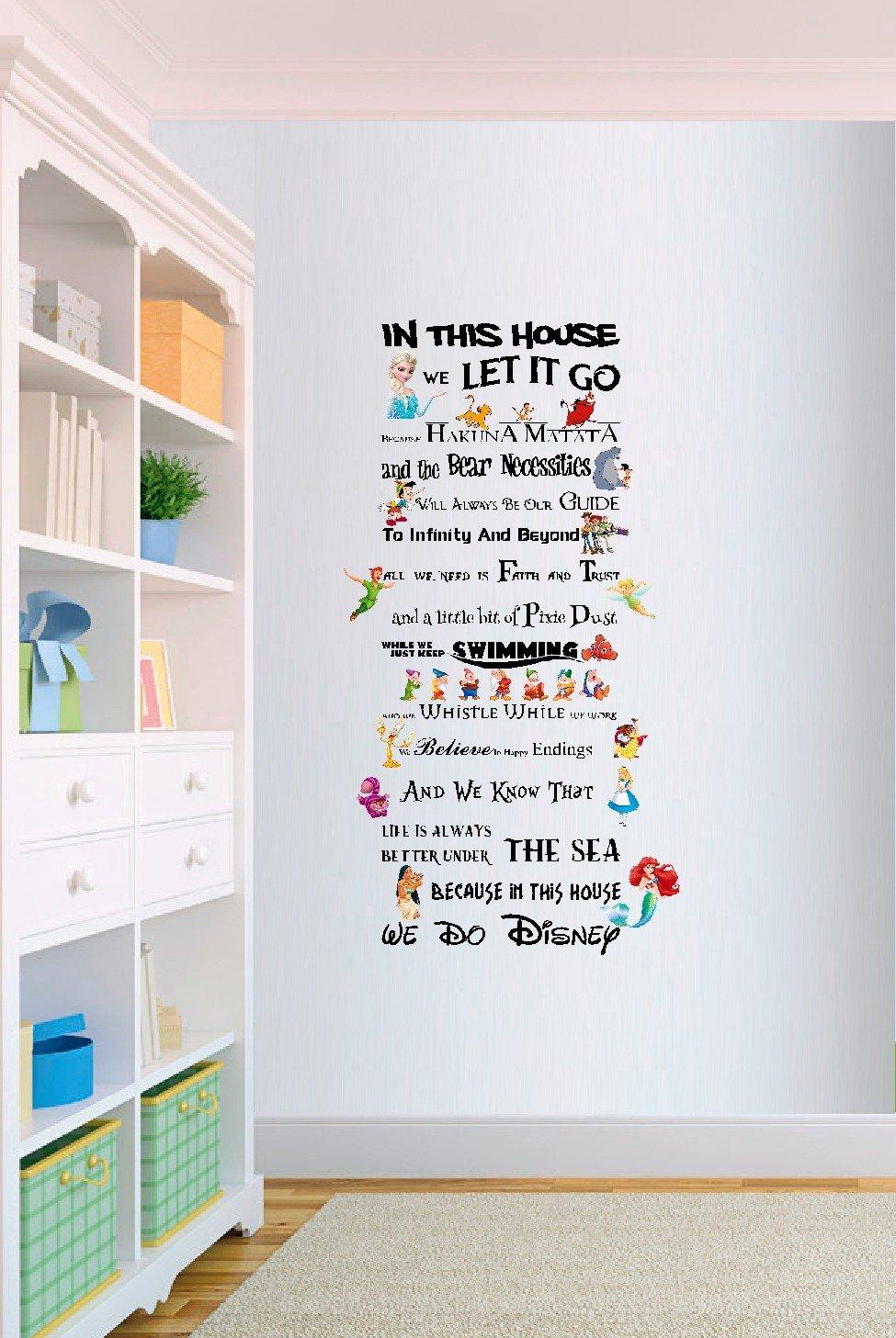 disney quote wall stickers amazon co uk