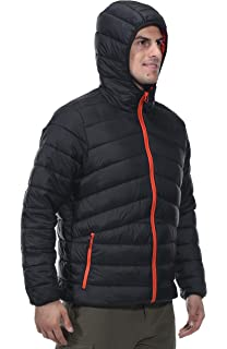 cb2896685 Rokka Rolla Men s Lightweight Water Resistant Hooded Quilted Poly ...