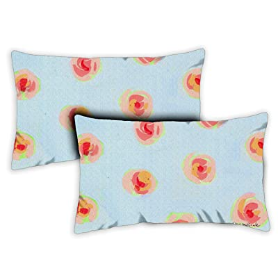 Toland Home Garden 771227 Blue Blossoms 12 x 19 Inch Indoor/Outdoor, Pillow Case Only (2-Pack) : Garden & Outdoor