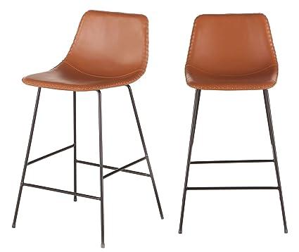 Astonishing Amazon Com World Interiors Set Of Two Tan Faux Leather Inzonedesignstudio Interior Chair Design Inzonedesignstudiocom