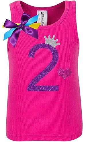 Bubblegum Divas Little Girls 2nd Birthday Pink Princess Shirt 6X