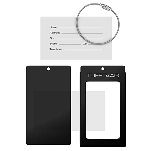 Amazon.com: Luggage Tag Business Card Holder TUFFTAAG SINGLE ...