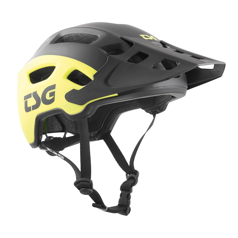 TSG trailfoxグラフィックデザインヘルメット自転車 S / M 5458センチメートル サイドアシッドイエロー - ブラック B0784CKWKR