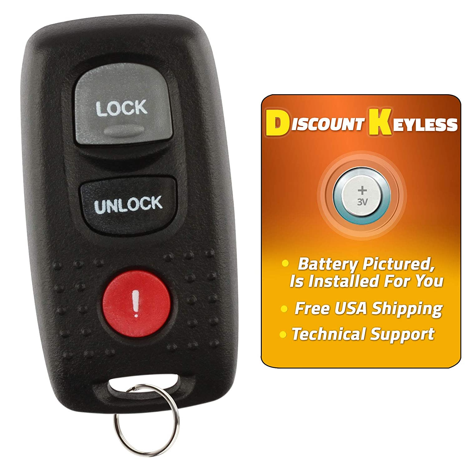 Remote Keyless Entry For 2004 2005 2006 Mazda MPV Car Key Fob Dash Cams, Alarms & Security Automotive
