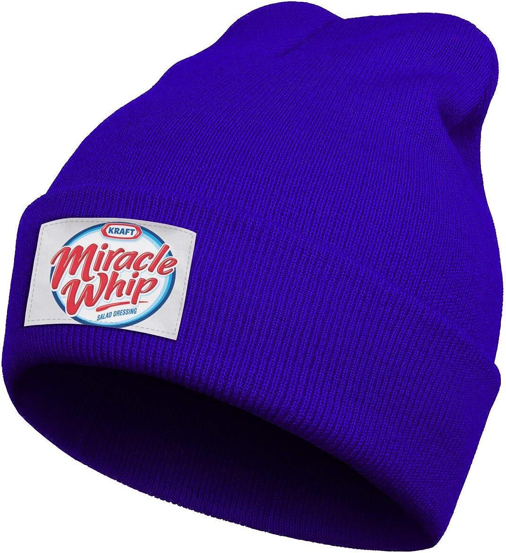 CAWFA98 Unisex Hipster La-Comadre- Winter Thick Fine Knit Hat Soft Blue Beanie Caps