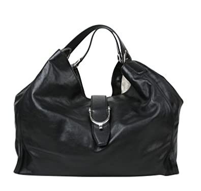 a8e482f2bde Amazon.com  Gucci Stirrup Black Calf Leather Large Hobo Bag Handbag 296855  1000  Shoes