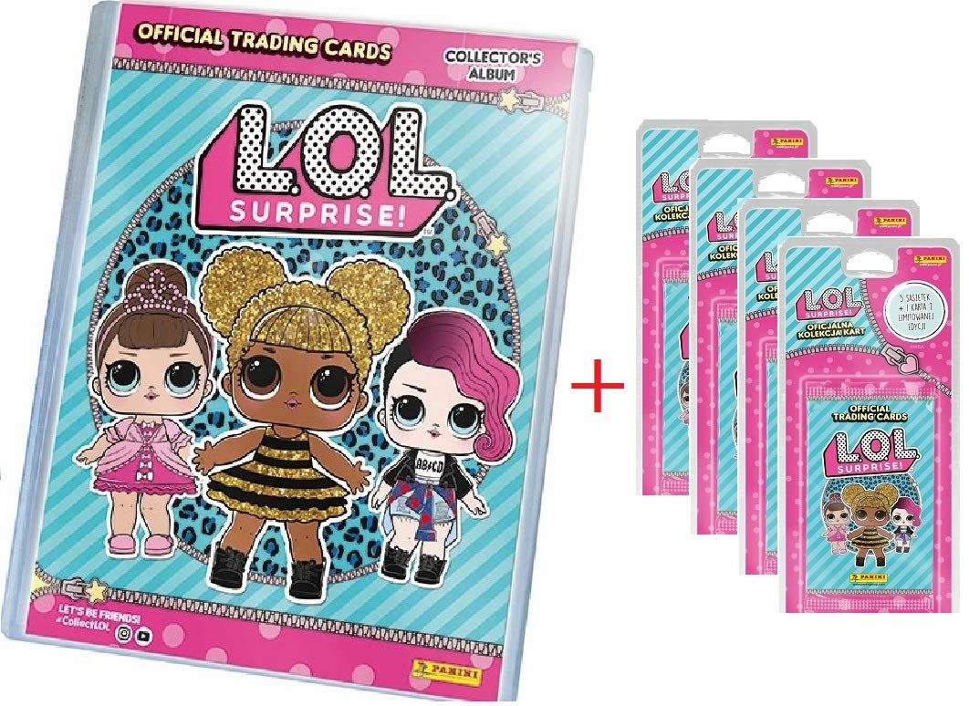 LOL SURPRISE PANINI Trading Cards (ARCHIVADOR+Lata+28 Sobres): Amazon.es: Juguetes y juegos