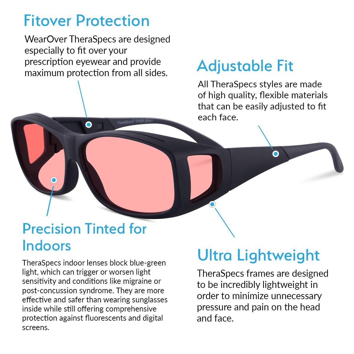 a31c3b59b5b63 Amazon.com  TheraSpecs WearOver Migraine Glasses for Light Sensitivity