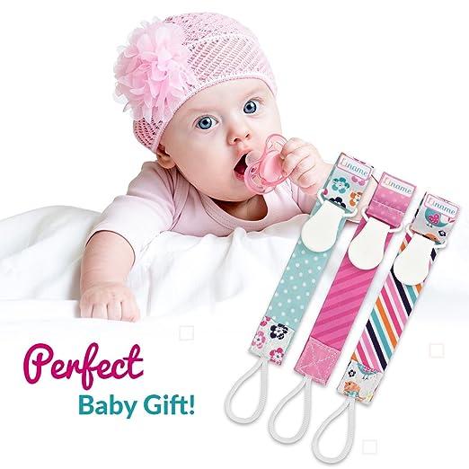 Amazon.com: Clip para chupete las niñas por liname – 3 Pack ...