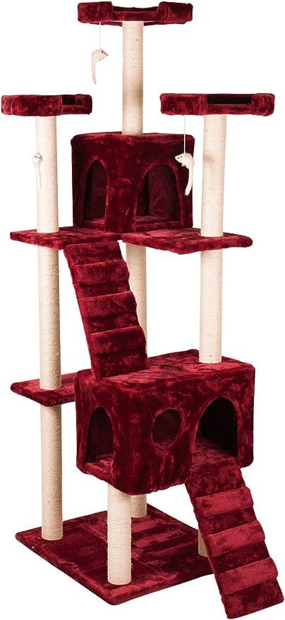 Rascador para gatos Árbol XXL (185 cm de alto Árbol para gatos ...