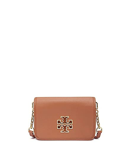 3ef7ca31a91b Tory Burch Britten Pebbled Leather Combo Crossbody Bag (Bark) 8040   Handbags  Amazon.com