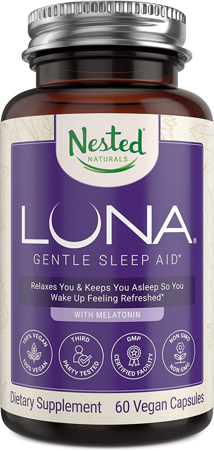 Sleep Aid Naturally Sourced Ingredients | 60 Non-Habit Forming Vegan Capsules