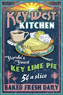 product image for Key West, Florida, Key Lime Pie Vintage Sign 33628 (12x18 SIGNED Print Master Art Print, Wall Decor Poster)