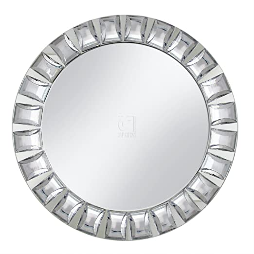 Christmas Tablescape Decor - Decorative Contemporary Big Beaded Mirror Rim Mirror Charger Plate